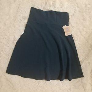 NWT LuLaRoe Textured Teal Blue Azure Skirt L